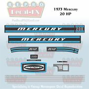 1973 Mercury 20 Hp Outboard Reproduction 13 Pc Marine Vinyl Decal 200