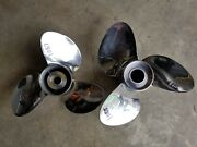 Pair Of Solas New Saturn 17 Pitch Volvo Duo Stainless Props 1087 And 1088