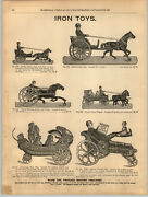 1894 Paper Ad Toy Cast Iron Wheel Toys Baby Quieter Columbus Bell Wilkins