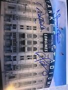Ny Yankees Photo Alex Rodriguez Derek Jeter And Mariano Rivera Autographed
