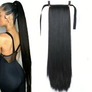 Super Long Straight Clip In Tail False Hair Ponytail Hairpiece Extension Hairpin