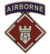 Vanguard Army Combat Service Identification Badge 20th Engineer With Tab Brigade