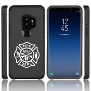 For Samsung Galaxy S9 S9+ Shockproof Hard Case Cover Fire Dept Maltese Cross