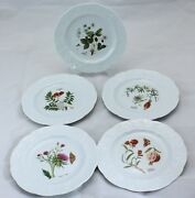 Cnp China France Lierre Lauvage Embossed Leaves, Floral Center 6 5/8
