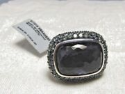 David Yurman Sterling Silver Black Orchid Waverly Limited Edition Ring Size 6.25