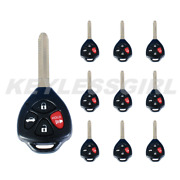 10p New Replacement Keyless Remote Head Ignition Uncut Key Fob 4d67 Hyq12bby 4b