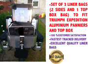 Pannier Liner Bags And Top Box Bag To Fit Triumph Expedition Aluminium Panniers