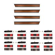 196972 Chevy Pickup Truck Long Bed Woodgrain Molding Set Lower+rear+right+left