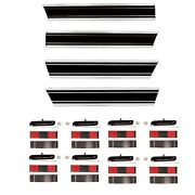 196972 Chevy Pickup Truck Long Bed Black Molding 4pcs Set Lower+rear+right+left
