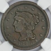 1849 1c Braided Hair N-9 Large Cent Ngc Xf 45