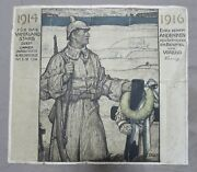 Ww1 Vintage German Army Soldier 1914 Kia Death Honor Document - Poster Sized