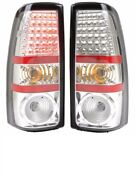 Tiffin Allegro Red 2011 2012 Chrome Led Pair Taillights Tail Lights Rear Lamp Rv