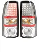 Tiffin Allegro Red 2009 2010 Chrome Led Pair Taillights Tail Lights Rear Lamp Rv