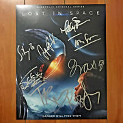 Lost In Space Signed 11x14 Poster Print By 8 Cast Molly Parker Toby Stephens Coa