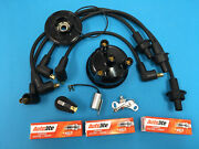 Ford Tractor Tune Up Kit Wires Plugs Points Cap Rotor 2000 3000 3600 4000 1965+