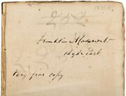 Volume From Franklin D. Rooseveltand039s Library Signed Twice - W/ Anti-semitic Views