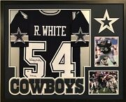 Framed Randy White Autographed Signed Inscribed Dallas Cowboys Jersey Jsa Coa