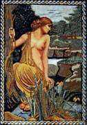 66 Handmade The Myth Of Narcissus Echo And Narcissus Marble Mosaic Art Decor
