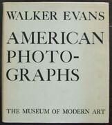 American Photographs By Walker Evans, First Edition With Dust Jacket - 1938
