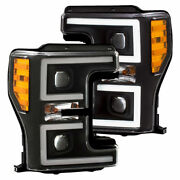 Anzo Projector Headlights Plank Style Switchback Blk For Ford F250/350/450 17-18