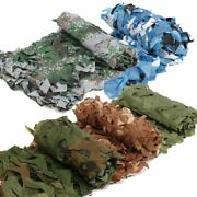 Woodland Camouflage Netting Military Camo Hunting Shooting Hide Cover Net
