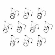10s Business 3-wire Clear Tube Radio Earphone For Motorola Cp100 Cp200 Cp200d