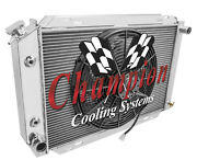 1980 -93 Mustang And 1980 -93 Ford Cars 4 Row Dr Radiator 1 X 16 Fan Combo