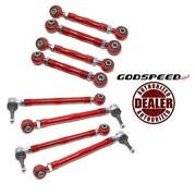 Godspeed Project 8pcs Rear Upper Camber + Toe Arms For 97-04 Porsche 911 996