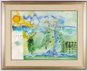 Andrea Smith The Cycles Of Nature Signed Original Watercolor Framed