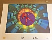 Kimmy Animation Cel Space Ace 1983 Don Bluth Dragons Lair Nimh Art Matching Bg