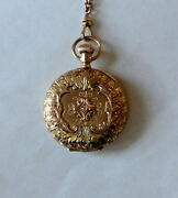 Best Of The Best 14k 4 Color Gold Diamond Pocket Watch With 30 14k Slide Chain