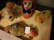 4 Vintage Wind Up Toys From The 50's