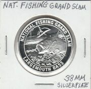 M Scd - National Fishing Grand Slam - Largemouth Bass - 38 Mm Silver Plate