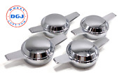 Zenith Smooth Dome Chrome Knock-off Spinners For Lowrider Wire Wheels M