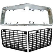 1970 71 72 73 Camaro Rally Sport Rs / Grille And Grille Surround Steel Chrome 3pcs