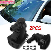 2pcs Front Windshield Washer Fluid Spray Jet Nozzle Kits For Ford Edge 2007-2010