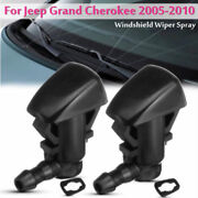 2pcs Front Windshield Washer Fluid Spray Jet Nozzle Kits For Jeep Grand Cherokee
