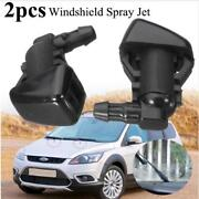 2pcs Front Windshield Washer Fluid Spray Jet Nozzle Kits For Ford Focus 08-2011