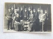 C394 Vintage Postcard Army Military French Ww1 Dress Uniforms Posed For Camera