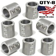 8 - Clamp On 6 Bolt Steel Fabrication Clamp 1.75 Roll Bars Cages Tubing Weld On