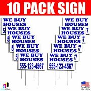 10x We Buy Houses Yard Signs Your Phone Number Real Estate Marketing