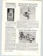 1962 Paper Ad Article Stelber Jet Rod Pedal Car Toy Monorail Train Harmonic Reed