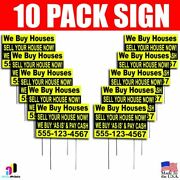 10x We Buy Houses Sell Your House Now Yard Signs Your Phone Number Real Estate