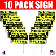 10x We Buy Houses Get A Fash Cash Yard Signs Your Phone Number Real Estate
