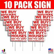 10x We Buy Houses Signs Your Phone Number And Website Real Estate Marketing