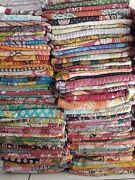 Wholesale Lot 5 Pc Kantha Throws Handmade Indian Vintage Kantha Quilts Blankets