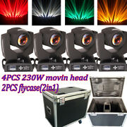 4pcs 7r 230w Beam 512 16 Ch Stage Moving Head Light Zoom Party Lighting+ Flycase