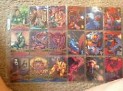 Marvel Masterpieces 349 Gold Foil Signature Set Sheets See Pictures