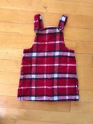 United Colors Of Benetton Plaid Girls O12 Wool Button Dress Discontinued