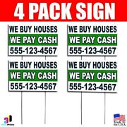 4x We Buy Houses We Pay Cash Yard Bandit Signs Your Phone Number Real Estate